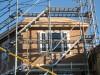 茶色い壁面が構造用MDF